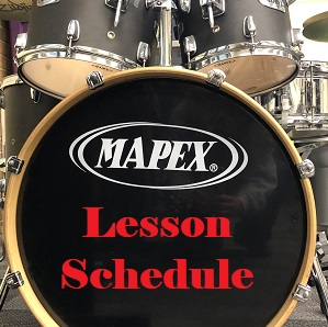 October Middle School Band Lesson Schedule